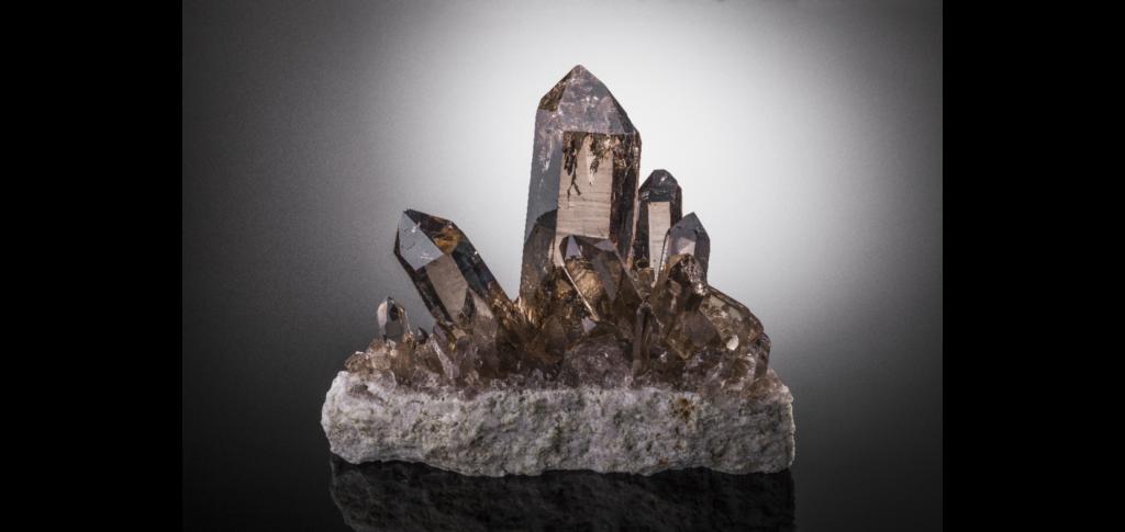 Cristaux de quartz fumé